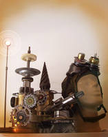 Steampunk Sculpture ID by pinochioO-5