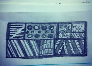 quick zentangle in my notebook