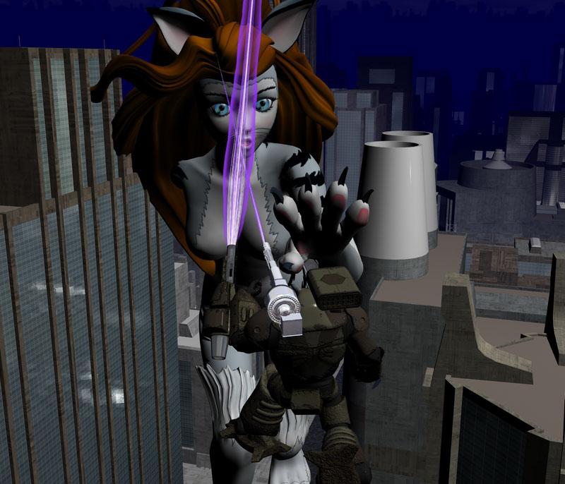 Return of the 100 Ft Catgirl by NekoLLX
