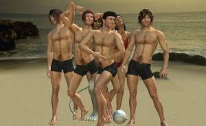 New Girls on the Beach by NekoLLX