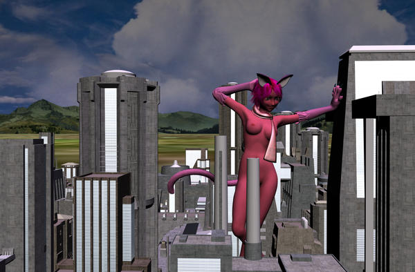 Attack Of The 100 Foot Catgirl by NekoLLX
