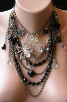 My Spidery Web Necklace by TaVaBee