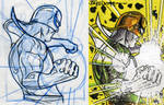 process iron fist card by artist Tom Kelly by TomKellyART