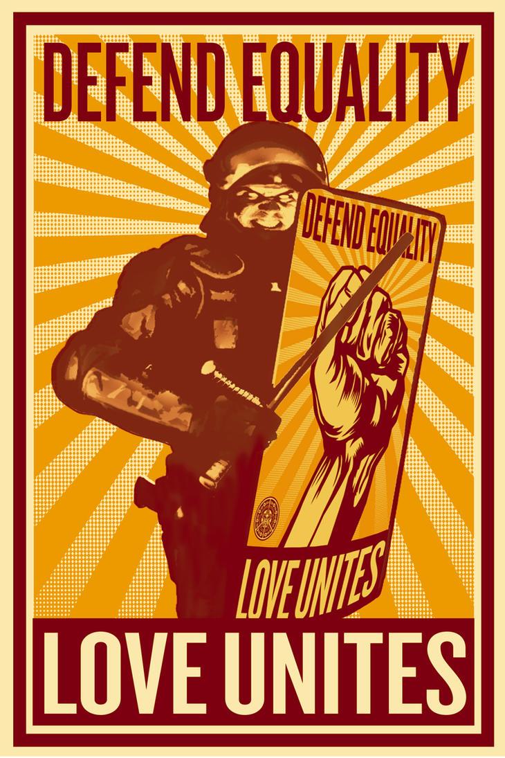 love defender riot by TomKellyART