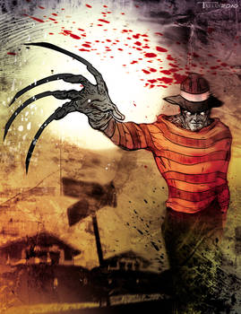 1..2..Freddy's coming for you by Tom Kelly by TomKellyART