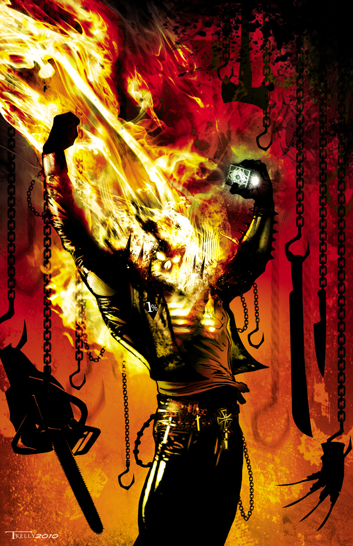 ghostrider commission by artist Tom kelly by TomKellyART on DeviantArt