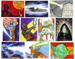 starwars cards 2011 4D by artist Tom Kelly by TomKellyART