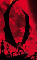 Demon Batman by artist Tom Kelly by TomKellyART