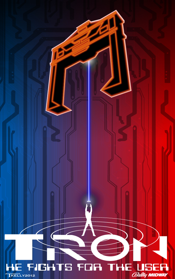 Classic tron by artist Tom Kelly by TomKellyART