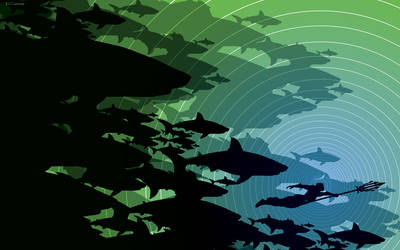 Aquaman shark week by artist Tom kelly
