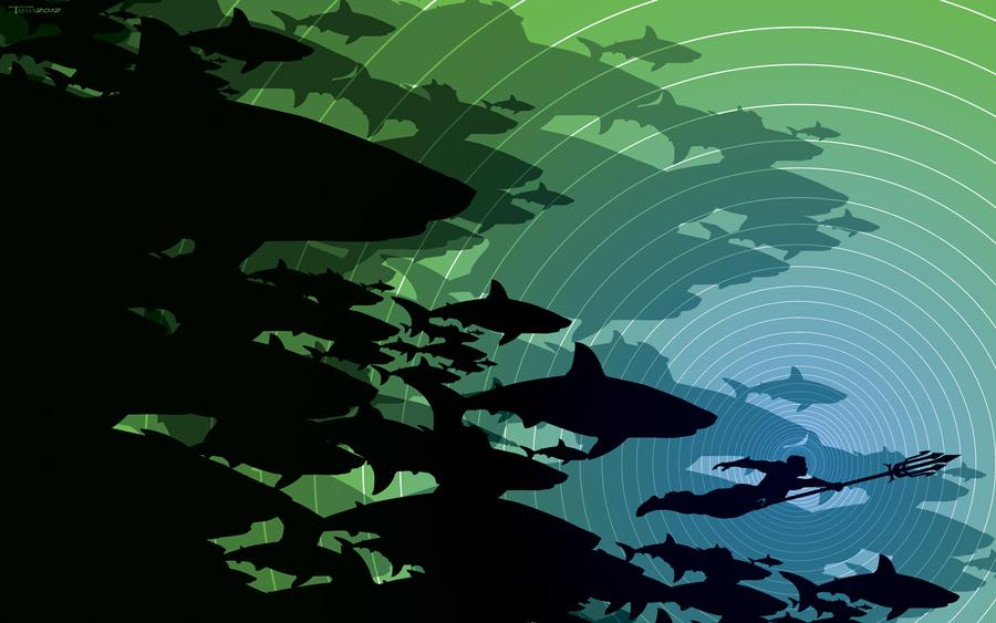 Aquaman shark week by artist Tom kelly by TomKellyART