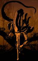 Alien brown by artist Tom Kelly by TomKellyART