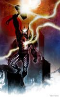 Thor Omega by artist Tom Kelly by TomKellyART