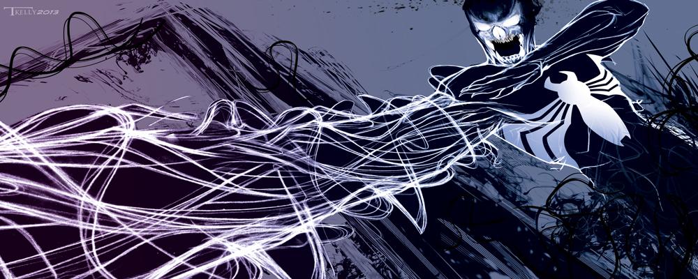 Venom Dark Shadow by artist Tom Kelly by TomKellyART
