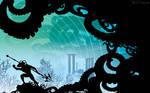 Black manta Leviathan by artist Tom Kelly