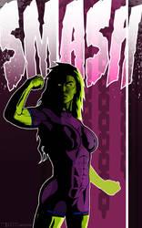 she hulk Smash by Tom Kelly by TomKellyART