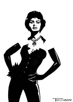 Sophia Loren Bombshell in Black 1 by Tom kelly