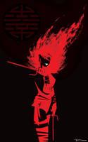 Elektra Killer Red by artist Tom Kelly