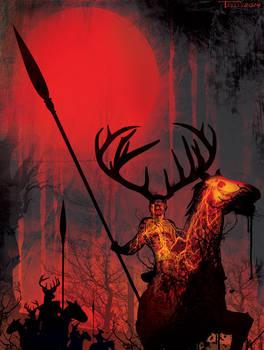 Wild Hunt by artist Tom Kelly