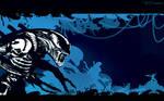 ALIEN blue brood by artist Tom Kelly