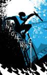 nightwing Blue Serif by artist Tom Kelly