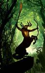 Centaur Dark lord of the wood by artist Tom Kelly