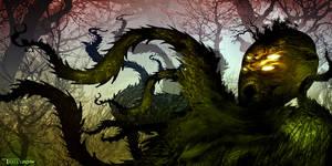 Forest kraken by artist Tom Kelly by TomKellyART