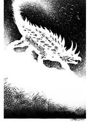 Anguirus by TomKellyART