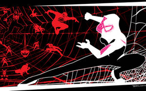 Spider Gwen VS the world by artist Tom Kelly
