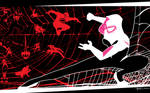 Spider Gwen VS the world by artist Tom Kelly