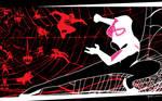 Spider Gwen VS the world by artist Tom Kelly by TomKellyART