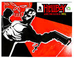 Hellboy 100 sketch cover by artist Tom Kelly by TomKellyART