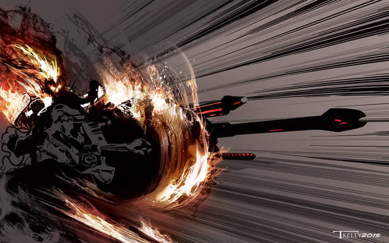 Ghostrider Interceptor by artist Tom Kelly