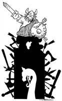 Hagar The Horrible by artist Tom Kelly by TomKellyART