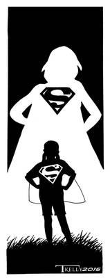 Supergirl dreams by artist Tom Kelly