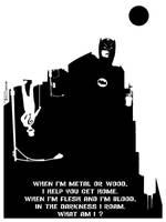 Batman riddle of the bat by artist Tom Kelly by TomKellyART