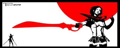 Kill La Kill blood dual by Artist Tom Kelly by TomKellyART