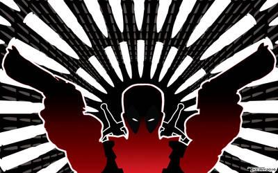 DeadPool Bullet Time by artist Tom kelly