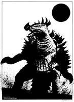 Anguirus Returns by artist Tom kelly by TomKellyART