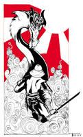 Dragon slayer eastern style by artist Tom kelly by TomKellyART