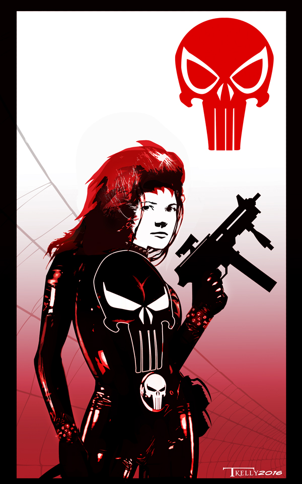 Mary Jane Watson Punisher by Tom kelly by TomKellyART