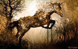 The Brittle Leaf Unicorn by Tom Kelly by TomKellyART