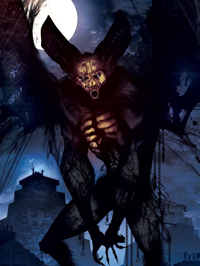 Camazotz Bat god by Tom kelly by TomKellyART