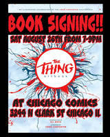 The Thing Art book Signing by TomKellyART