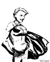 Powergirl power pose by Tom Kelly by TomKellyART