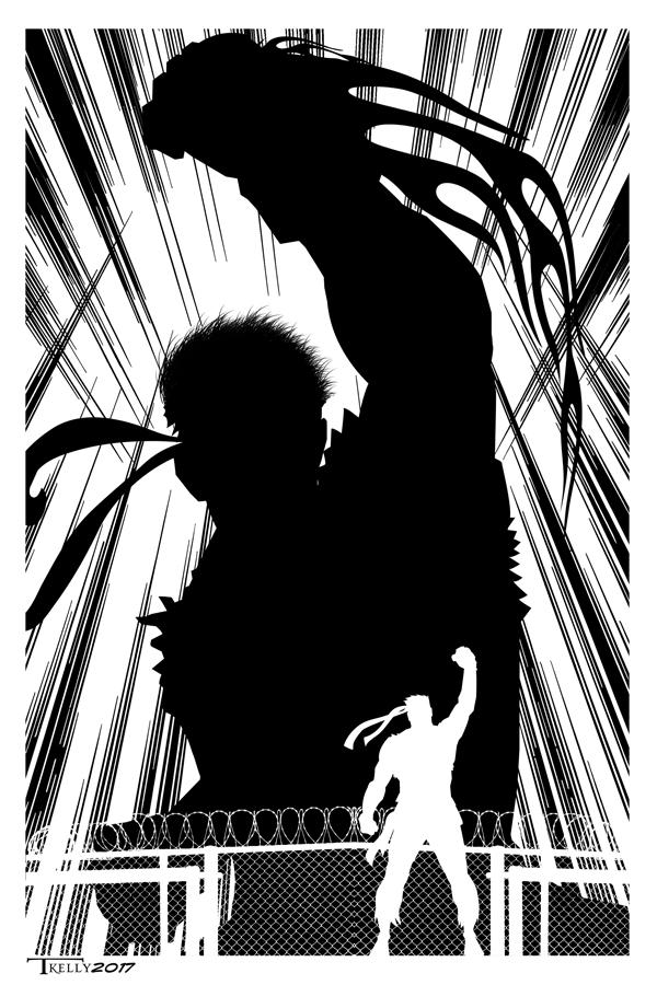 Ryu Power Punch By Tom Kelly by TomKellyART