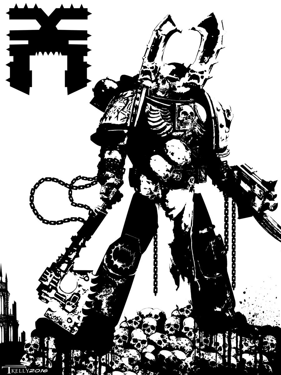 Kharn The Betrayer by Tom Kelly by TomKellyART