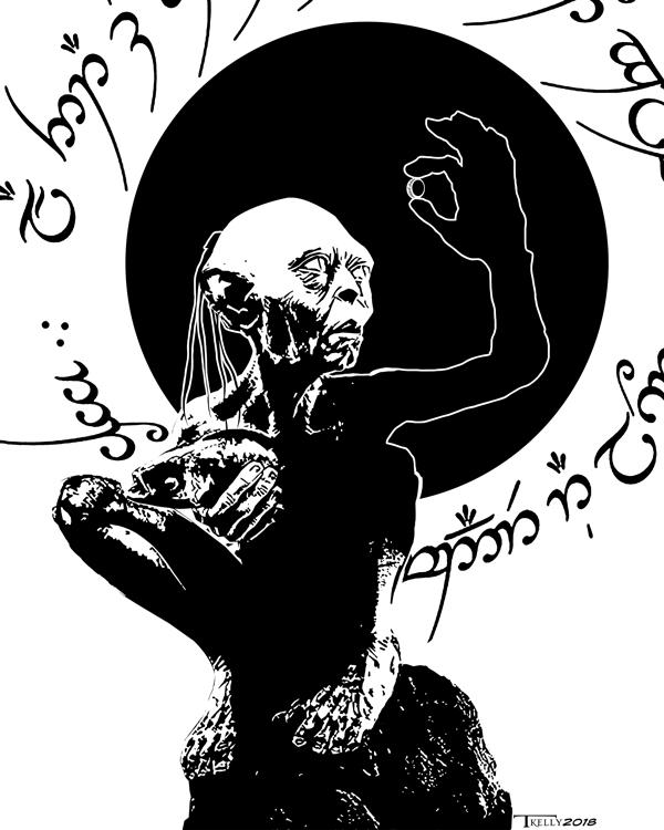 Gollum Greed by Tom Kelly by TomKellyART