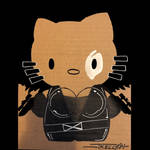 Domino kitty by Tom Kelly by TomKellyART