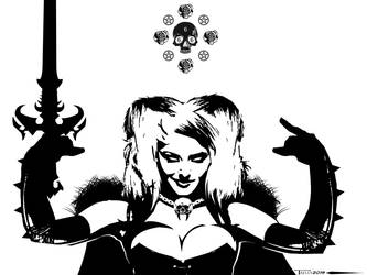 Lady death Metal as Hell by Tom kelly by TomKellyART